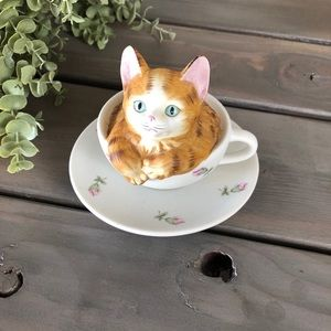 Other - Cat in a teacup music box